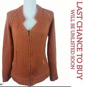 $Wooden Ships Women Mohair Wool Blend Sweater Zip